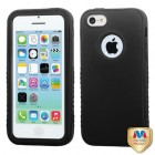 Apple iPhone 5c Rubberized Black/Black Hybrid Protector Cover