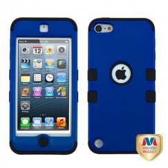 Apple iPod Touch (5th Generation) Titanium Dark Blue/Black Hybrid Case