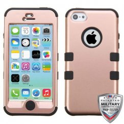 Apple iPhone 5c Rose Gold/Black Hybrid Case