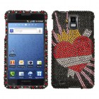 Samsung Infuse 4G Heartbreaker Diamante Phone Protector Cover