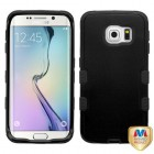 Samsung Galaxy S6 Edge Natural Black/Black Hybrid Phone Protector Cover