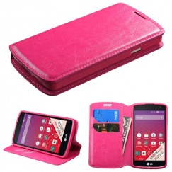 LG Tribute Hot Pink Wallet with Tray
