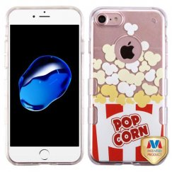 Apple iPhone 7 Transparent Clear Butter Popcorn-Movie Time Collection/Transparent Clear Gummy Cover