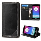 LG Leon H345 Black Genuine Leather Wallet