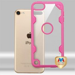Apple iPod Touch (6th Generation) Transparent Clear/Hot Pink Hybrid Case