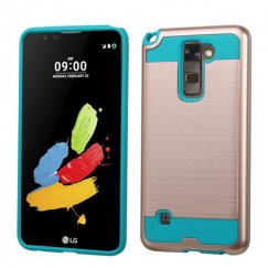 LG G Stylus 2 Rose Gold/Tropical Teal Brushed Hybrid Case