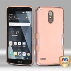 LG G Stylo 3 Metallic Rose Gold/Rubberized Rose Gold Panoview Hybrid Case