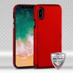 Apple iPhone X Titanium Red/Natural Black Contempo Hybrid Case Military Grade