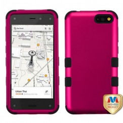 Amazon Amazon Fire Phone Titanium Solid Hot Pink/Black Hybrid Case