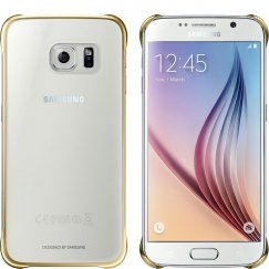 Samsung Galaxy S6 Case Protective Cover - Clear Gold