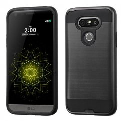 LG G5 Black/Black Brushed Hybrid Case