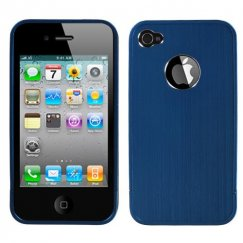 Apple iPhone 4/4s Blue Ironside Shield with Chrome Coating Metal