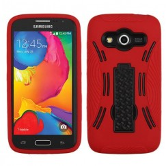 Samsung Galaxy Avant Black/Red Symbiosis Stand Case