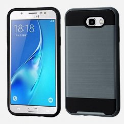 Samsung Galaxy J7 Ink Blue/Black Brushed Hybrid Case