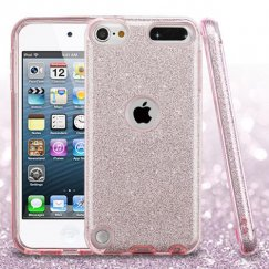 Apple iPod Touch (6th Generation) Pink Full Glitter Hybrid Case