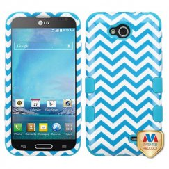 LG Optimus L90 Blue Wave/Tropical Teal Hybrid Case