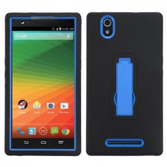 ZTE ZMax Dark Blue/Black Symbiosis Stand Case
