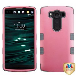 LG V10 Rubberized Pearl Pink/Iron Gray Hybrid Case