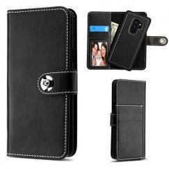 Samsung Galaxy S9 Plus Black Detachable Magnetic 2-in-1 Wallet (PC Case + Leather Folio)