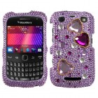Blackberry 9360 Curve Love Crash Diamante Phone Protector Cover