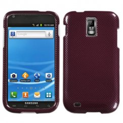 Samsung Galaxy S2 Carbon Fiber/Red Case