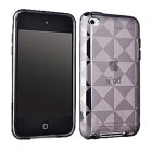 Apple iPod Touch TPU Plastic Case, Clear Diamond Pattern