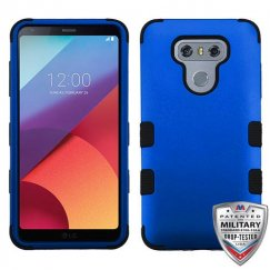 LG G6 Titanium Dark Blue/Black Hybrid Case Military Grade