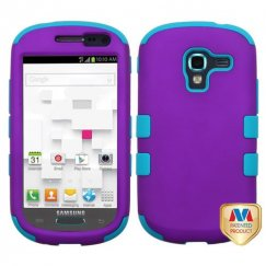 Samsung Galaxy Exhibit Rubberized Grape/Tropical Teal Hybrid Case