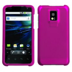 LG G2x Titanium Solid Hot Pink Case