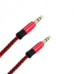 Red Audio Cable with ?Ã?¸3.5 to ?Ã?¸3.5 Plug (L=5 FT)