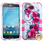 LG Optimus L90 Morning Petunias/Electric Pink Hybrid Case