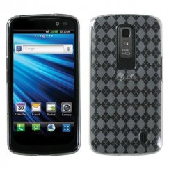 LG Nitro HD T-Clear Argyle Candy Skin Cover
