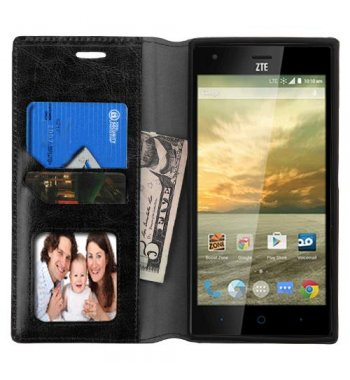 ZTE Warp Elite Black Wallet(with Tray)