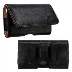 LG Revolution Black/Brown Textured Horizontal Pouch