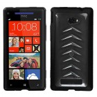 HTC Windows Phone 8x Transparent Smoke/Solid Black Gummy Cover