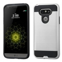 LG G5 Silver/Black Brushed Hybrid Case