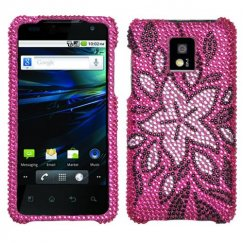 LG G2x Tasteful Flowers Diamante Case