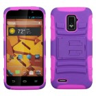 ZTE Warp 4G Purple/Electric Pink Advanced Armor Stand Case