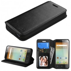 Alcatel One Touch Elevate Black Wallet with Tray