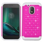 Motorola Moto G4 Play Hot Pink/Solid White FullStar Protector Cover