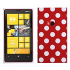 Nokia Lumia 920 Red Mixed Polka Dots Candy Skin Cover
