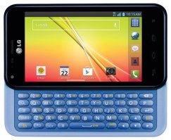 LG Optimus F3Q D520 4G LTE QWERTY Messaging Android Phone - T Mobile - Blue