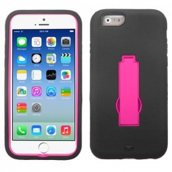 Apple iPhone 6/6s Hot Pink/Black Symbiosis Stand Case