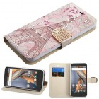 Coolpad Catalyst Eiffel Tower Diamante Wallet(with Diamante Belt)