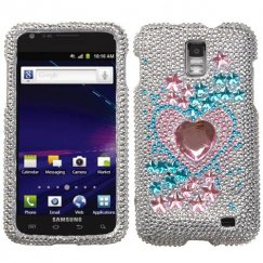 Samsung Galaxy S2 Skyrocket Star Track Diamante Case