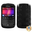 Blackberry 9360 Curve Carbon Fiber/Black Fishbone Phone Protector Cover