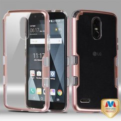 LG G Stylo 3 Metallic Rose Gold/Transparent Clear Panoview Hybrid Case