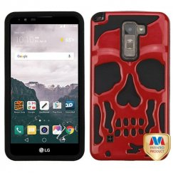 LG LG G Stylo 2 Plus Solid Red/Black Skullcap Hybrid Case