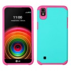 LG X Power / K6 Teal Green/Hot Pink Astronoot Case