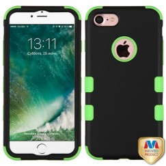 Apple iPhone 7 Rubberized Black/Electric Green Hybrid Case
